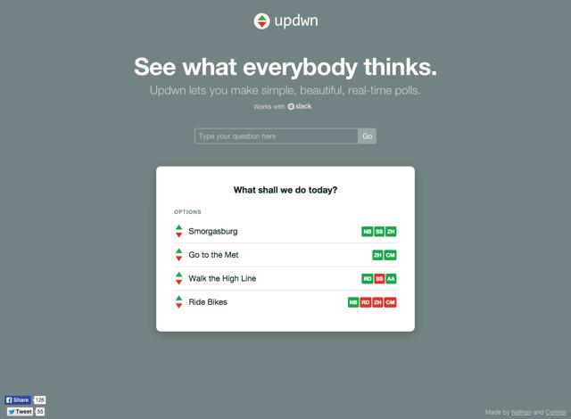 Updwn 快速製作簡單大方的線上問卷調查
