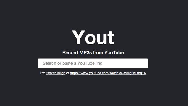 Yout 線上剪輯錄音 YouTube 影片轉成 Mp3 音樂下載!