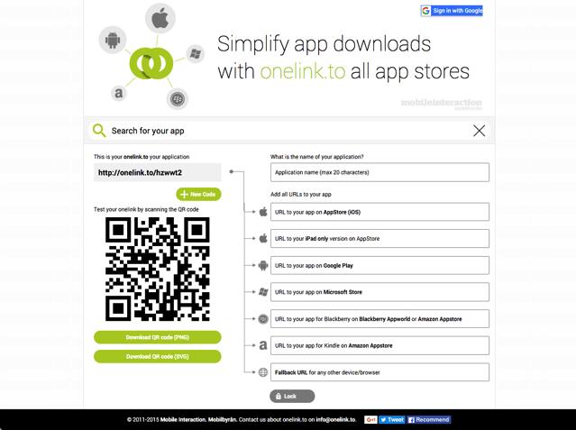 OneLink.to 縮短應用程式下載連結,自動辨識裝置平台、導向對應的應用程式商店