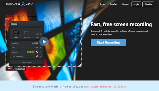 免費螢幕錄影程式推薦 Screencast-O-Matic!支援電腦畫面和攝影機同步錄製(Windows、Mac)