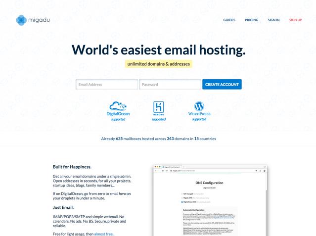 Migadu 世界最簡單可自訂網域名稱免費信箱!支援 IMAP、POP & SMTP 收發郵件 via @freegroup