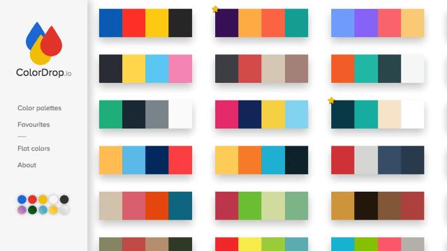 ColorDrop 你唯一需要的線上調色盤!收錄各種配色組合,提供設計開發上絕佳色彩來源