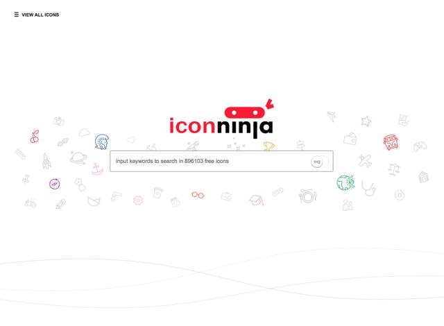Icon Ninja 推薦免費圖示搜尋引擎,收錄將近 90 萬個 PNG、SVG 圖案下載
