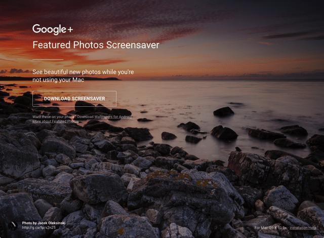 免費下載 Google 精選相片螢幕保護程式,讓 Mac 在待機時顯示賞心悅目照片