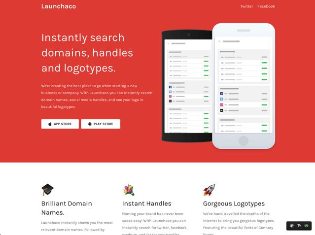 Launchaco Website Builder 快速建立免費、自適應設計產品官方網站