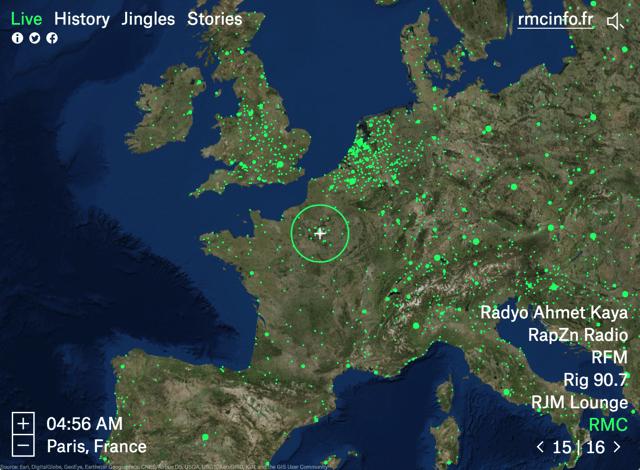 Radio Garden 在電腦前轉動地球,免費線上收聽全世界廣播電台頻道