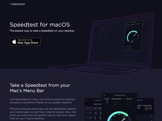 Speedtest 免費網路測速工具推出 Mac 版,一鍵獲取上下傳極速