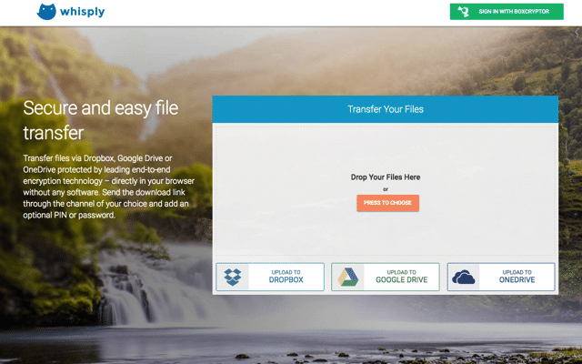 Whisply 加密 Dropbox、Google Drive 和 OneDrive 雲端硬碟檔案,讓傳檔更安全