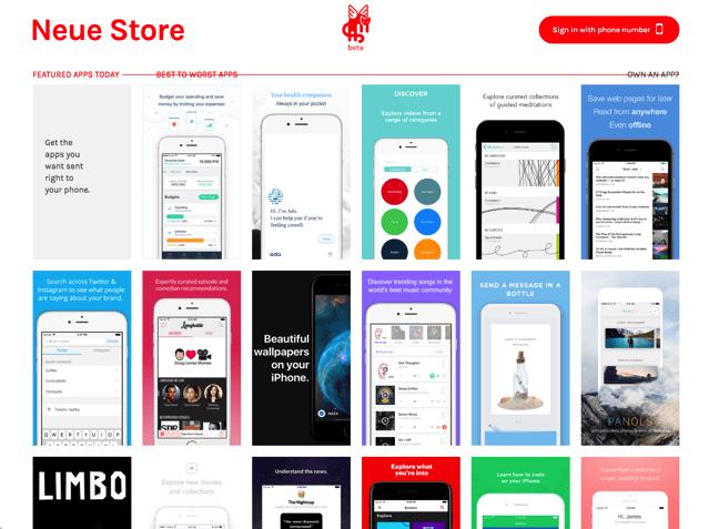 Neue Store 更好用的 iPhone App Store,推薦你沒看過的應用程式 via @freegroup