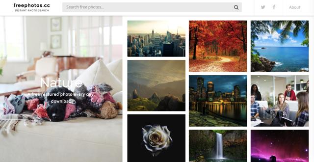 FreePhotos.cc 整合常用免費圖庫,強力搜尋 CC0 相片素材免費下載