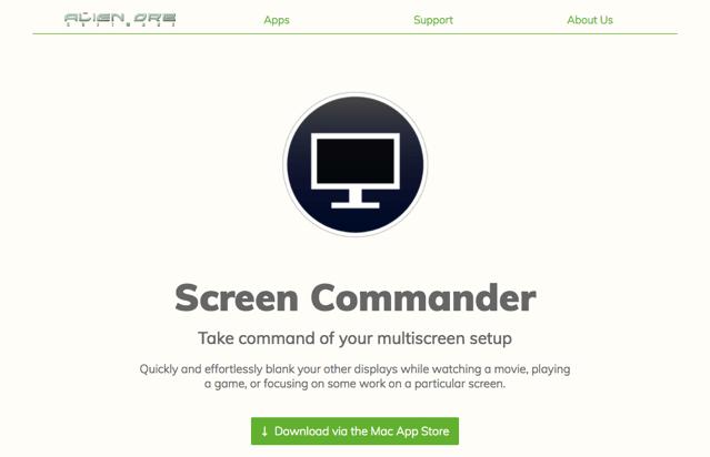 Screen Commander 在看電影、玩遊戲時快速關閉其他螢幕,雙螢幕多螢幕必備!(Mac)