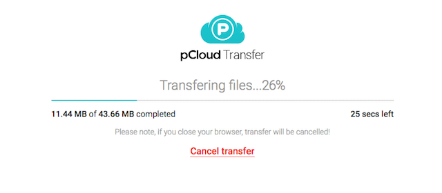 pCloud Transfer