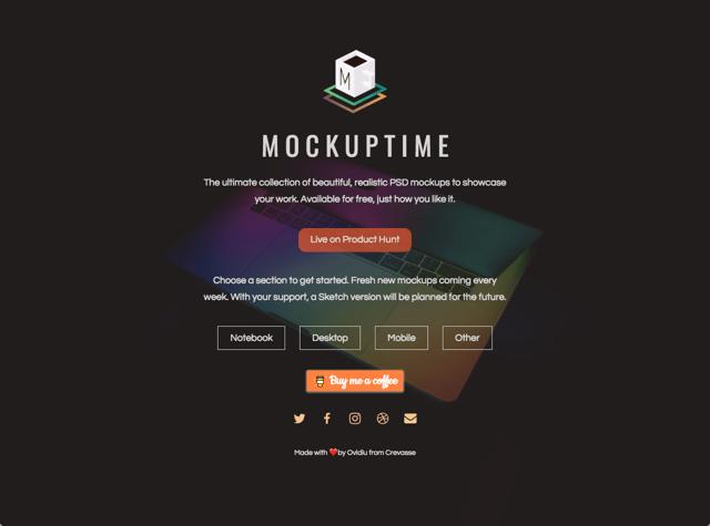Mockuptime 裝置模版 PSD 素材免費下載,讓產品畫面更有質感