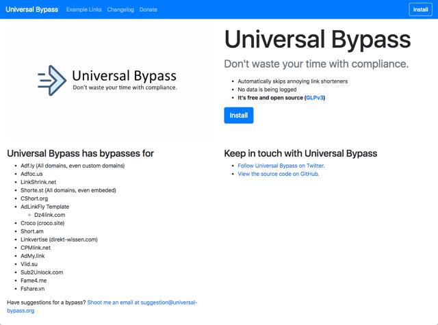 Universal Bypass 對付廣告連結利器,自動跳過惱人的倒數計時畫面(Chrome、Firefox)
