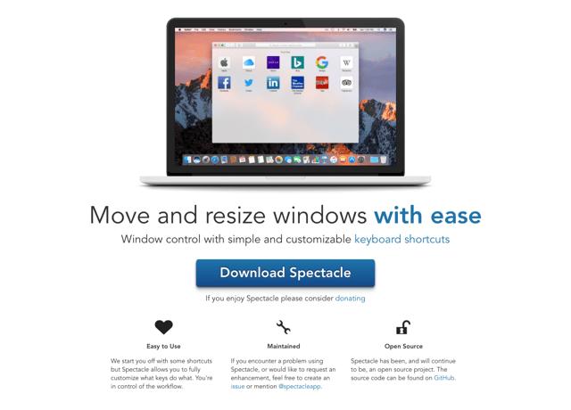 Spectacle 可快速移動、調整分割視窗大小的免費 Mac 應用程式