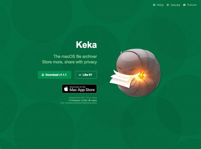 Keka 免費 macOS 檔案壓縮工具,中文介面支援常見壓縮格式