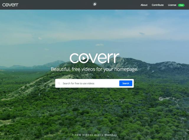 Coverr 免費網頁背景影片素材下載,動態網頁設計看起來更活潑