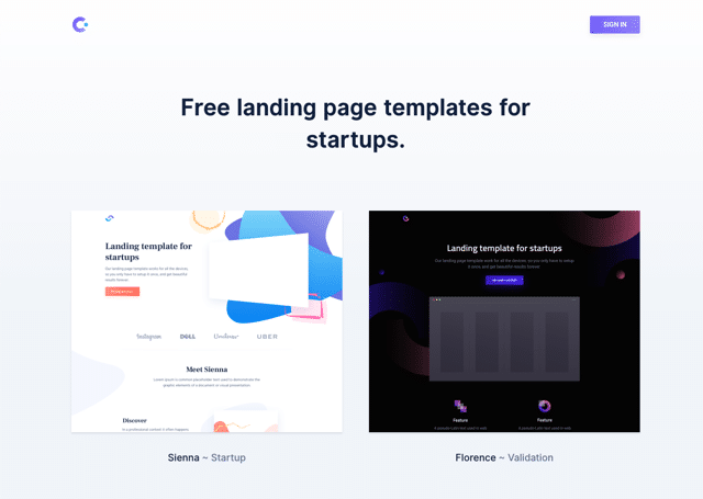 Cruip 為新創團隊提供免費 Landing Page 網站模版下載