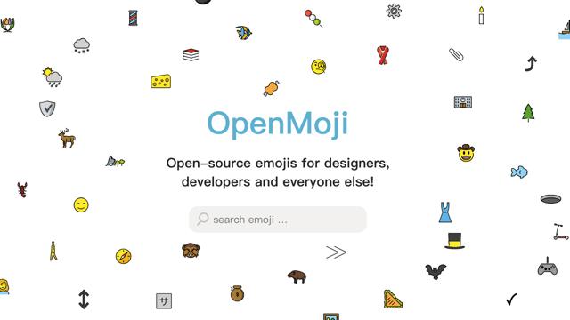 OpenMoji 開放原始碼免費表情符號,彩色單色 SVG、PNG 格式免費下載