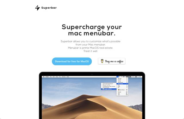 Superbar 強化 Mac 選單列,讓常用操作一鍵快速開啟