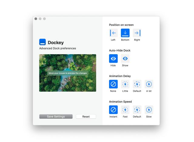 Dockey 調整 Dock 動態效果延遲時間和速度,讓 Mac 使用更有效率