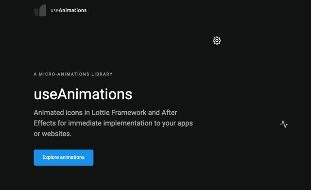 useAnimations 免費動態圖示下載,可用於應用程式或網站介面開發