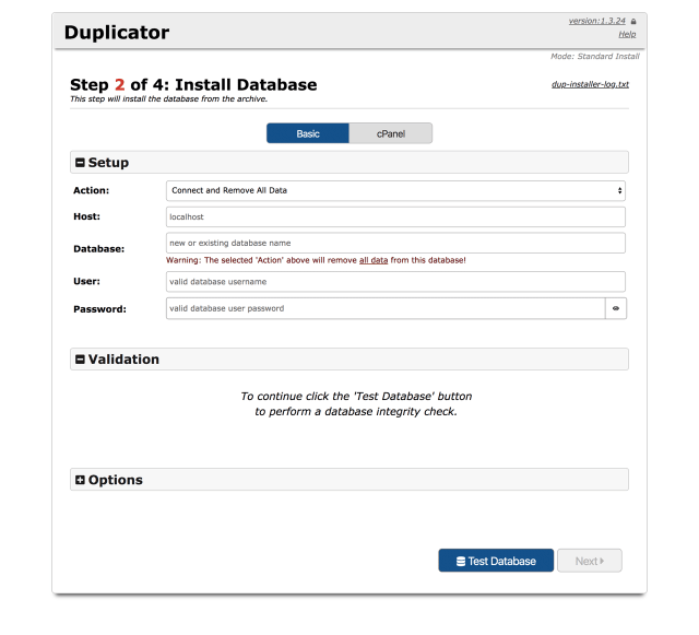 WordPress Duplicator