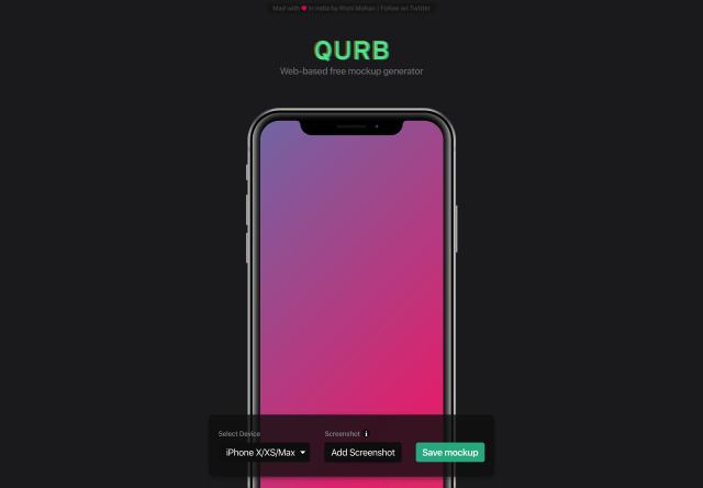 Qurb 線上 Mockup 產生器,擷圖套用 iPhone、MacBook 外框更有質感