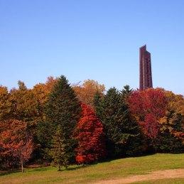 紅葉 野幌森林公園 北海道百年記念塔
