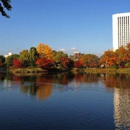 札幌 中島公園 紅葉