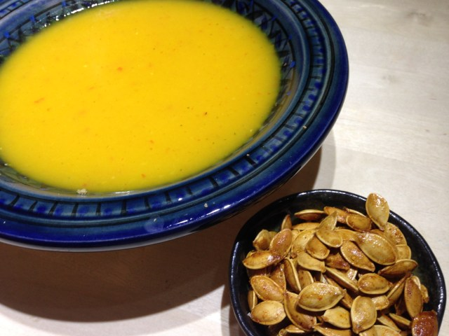 pumpkin soup – mmmmm hot & creamy