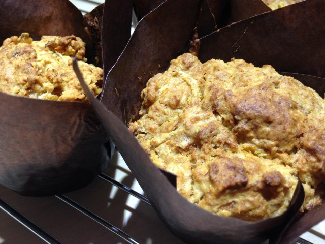 pumpkin muffins (the savoury sort!)