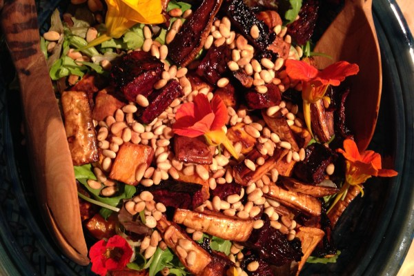 roasted root veg salad