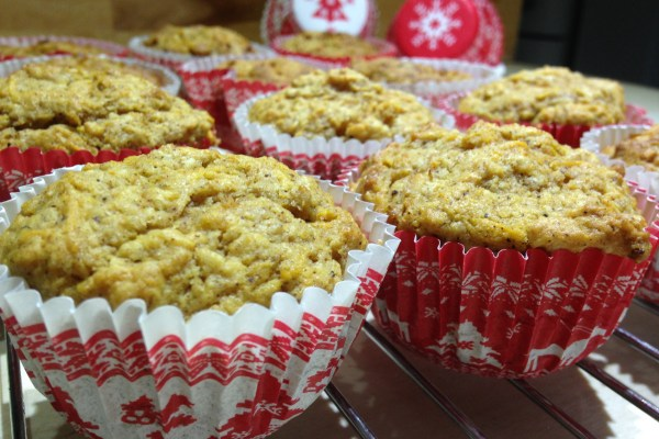 christmas ginger & maple muffins