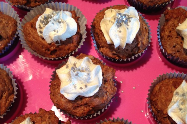 banana & cinnamon cupcakes for bambinos