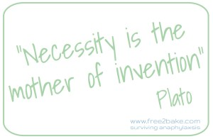 necessity: the mother of invention - inventing free-from recipes