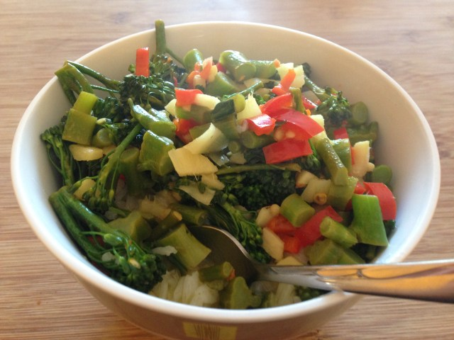 simple speedy scrummy broccoli stir fry