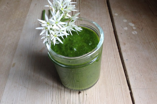 wild garlic & basil pesto