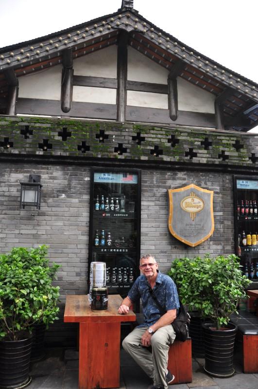 Chengdu craft beer store.