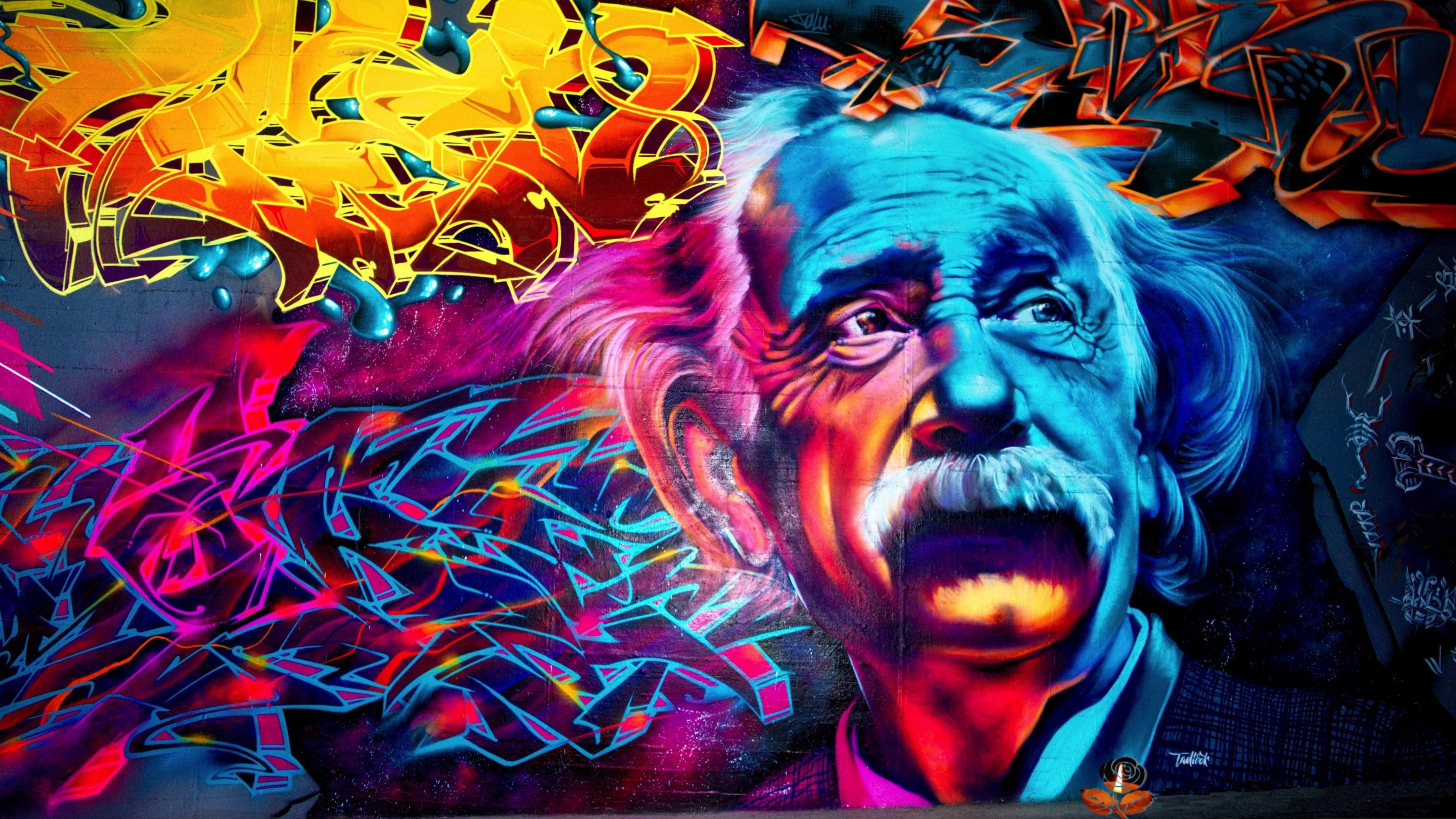 Skull Graffiti Wallpaper 4k