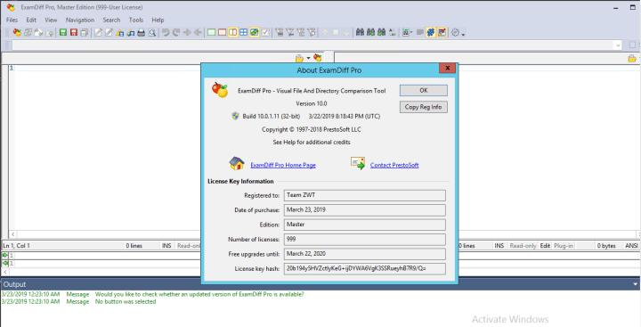 ExamDiff Pro Master Edition keygen