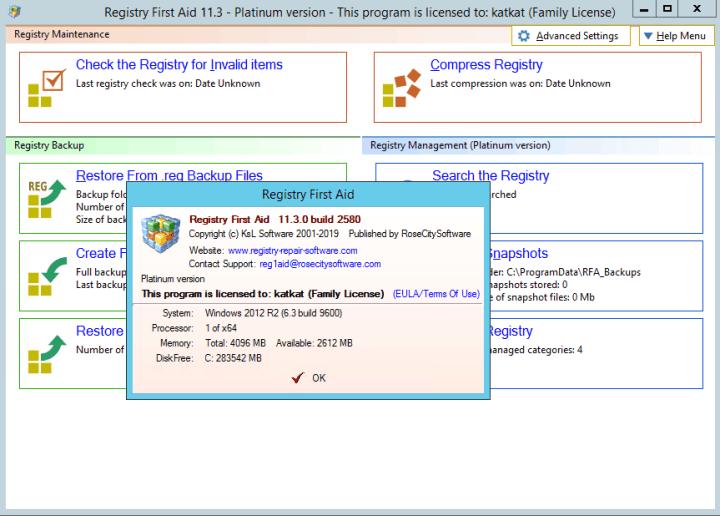 Registry First Aid Platinum 11.3.0 Build 2580 crack