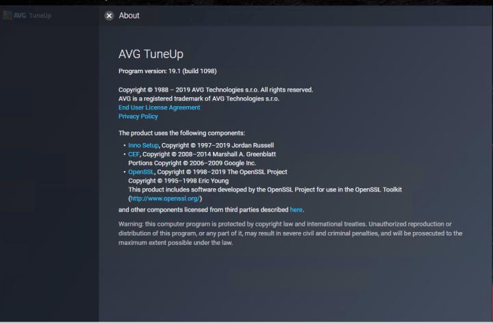 AVG TuneUp 19.1 Build 1098 Full version