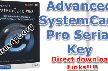Advanced SystemCare Pro Serial Key