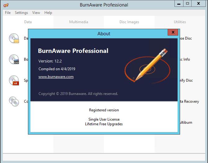 BurnAware Professional 12.2 full version