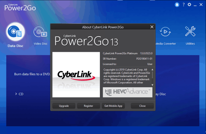cyberlink power2go 8 activation key