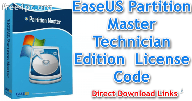 EaseUS Partition Master Technician Edition License Code