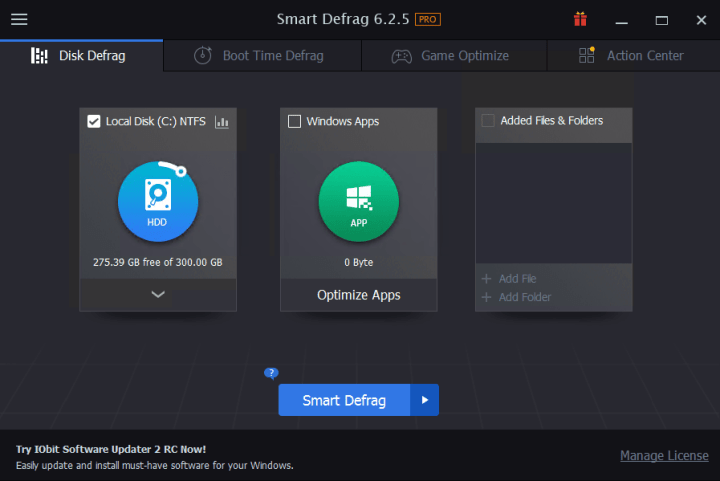 IObit Smart Defrag Pro 6.2.5.129 With Serial Key [free4pc]