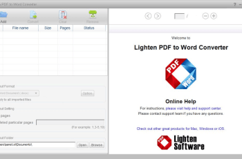 Lighten PDF to Word Converter 6.2.1 Crack