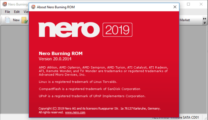 Nero Burning ROM 2019 v20.0.2014 Crack
